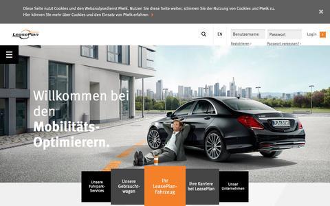 Screenshot of Home Page leaseplan.de - Home - captured Nov. 5, 2016