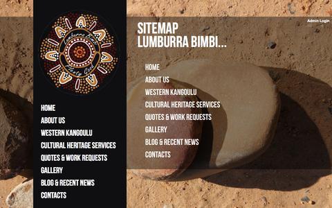 Screenshot of Site Map Page lumburrabimbi.com.au - Sitemap | Lumburra Bimbi - captured Sept. 30, 2014