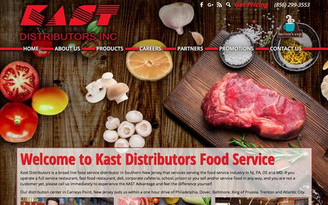 Screenshot of Home Page kastdistributors.com - food service distributor in Southern New Jersey | Kast Distributors - captured Oct. 16, 2017