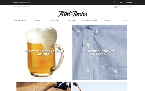Screenshot of Blog flintandtinderusa.com - Flint and Tinder - Proudly Made In America | Blog - captured Sept. 12, 2014