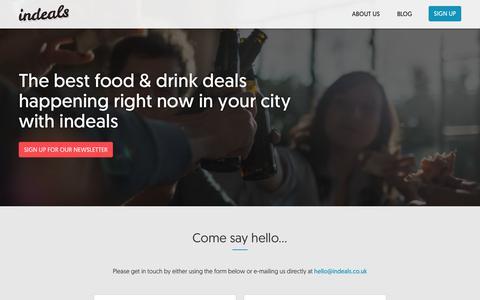 Screenshot of Contact Page indeals.co.uk - indeals.co.uk - Contact us - captured Nov. 6, 2018