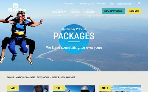 Screenshot of Locations Page skydive.com.au - Prices & Packages » Skydive - captured April 27, 2018