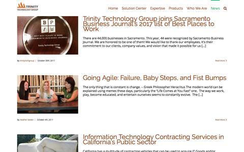 Screenshot of Press Page trinitytg.com - Blogs – Trinity Technology Group - captured Nov. 10, 2017