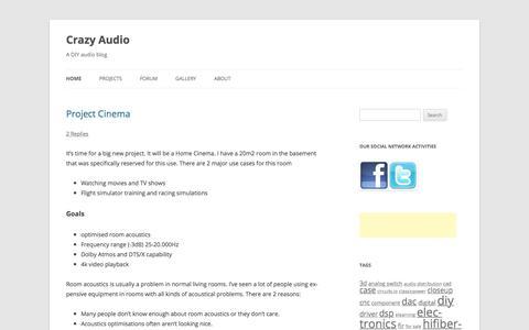 Screenshot of Home Page crazy-audio.com - Crazy audio - captured Sept. 24, 2018
