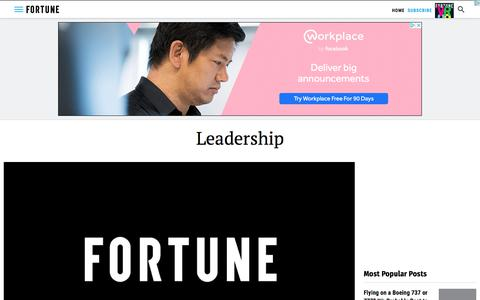 Screenshot of Team Page fortune.com - Leadership | Fortune - captured July 21, 2019