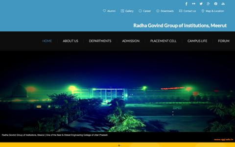 Screenshot of Home Page rggi.edu.in - Radha Govind Group of Institutions,Meerut | Best Engineering College in NCR  - Home - captured Aug. 16, 2015