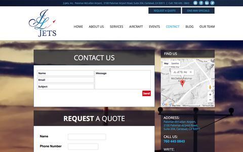 Screenshot of Contact Page jljets.com - JLJETS | Contact - captured May 27, 2017