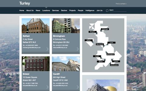 Screenshot of Locations Page turley.co.uk - Locations | Turley - captured Oct. 9, 2014