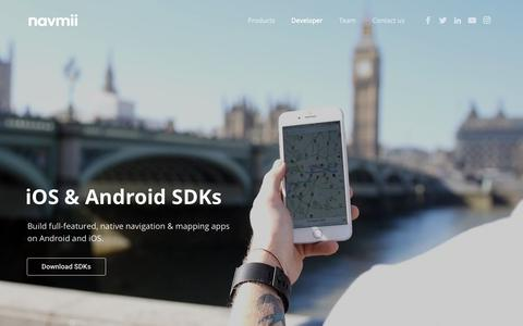 Screenshot of Developers Page navmii.com - Developer - Navmii World - captured Sept. 30, 2018