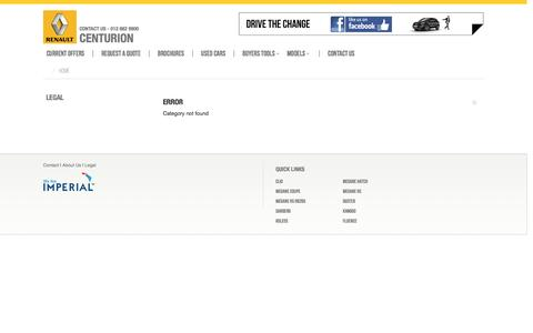 Screenshot of About Page Terms Page renaultcenturion.co.za - Renault Centurion - captured March 17, 2016