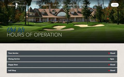 Screenshot of Hours Page tartanfields.com - Hours of Operation | Tartan Fields Golf Club | Dublin, OH - captured Oct. 22, 2018