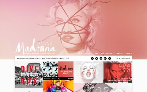Screenshot of Home Page divinamadonna.com - Divina Madonna   Spanish Madonna Fanclub - captured Aug. 8, 2015