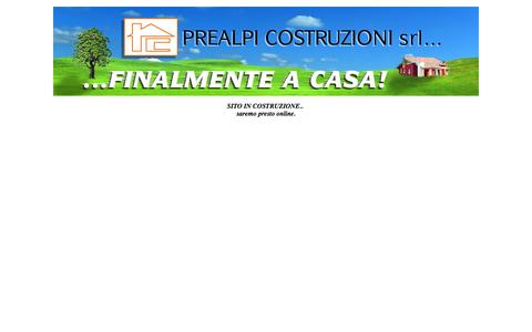 Screenshot of Home Page prealpicostruzioni.com - Untitled Document - captured Oct. 2, 2014