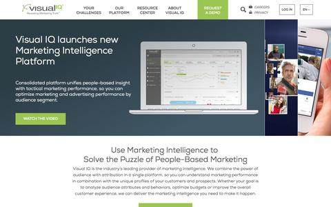 Screenshot of Home Page visualiq.com - Visual IQ – The Leading Marketing Intelligence Provider - captured Sept. 7, 2017