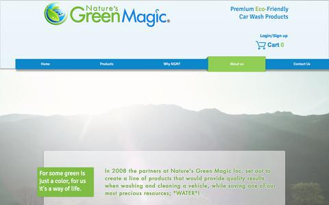Screenshot of About Page naturesgreenmagic.com - Natures Green Magic|Eco friendly|Car wash|Car wax | About us - captured July 8, 2018