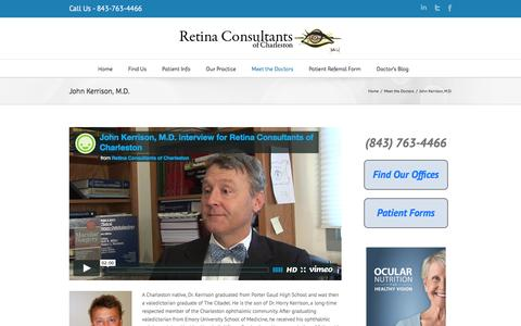 John Kerrison, M.D. | Retina Consultants of Charleston