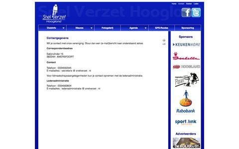 Screenshot of Contact Page snelverzet.nl - Contact - captured Oct. 7, 2014