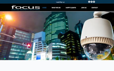 Screenshot of Home Page focusdigital.co.nz - focus - captured Sept. 16, 2015