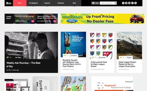 Screenshot of Home Page brandingmagazine.com - Branding Magazine - captured Sept. 23, 2014