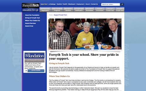 Screenshot of Support Page forsythtech.edu - Support Forsyth Tech | Forsyth Tech - captured June 16, 2015