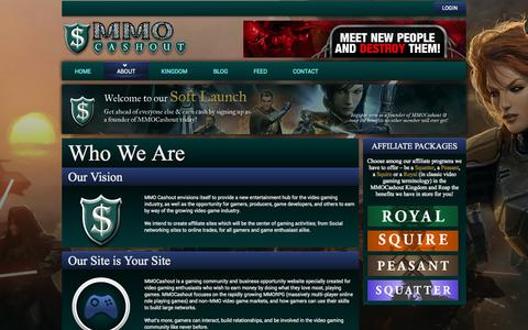 Screenshot of About Page mmocashout.com - About | MMO Cashout - captured Oct. 31, 2014