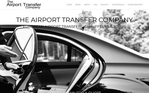 Screenshot of Home Page airport-transfer-company.com - The Airport Transfer Company - captured Oct. 19, 2018