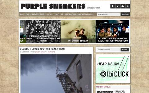 Screenshot of Home Page Blog purplesneakers.com.au - Purple Sneakers - Trusted For Taste - captured Sept. 23, 2014