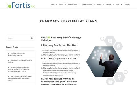 Screenshot of Signup Page fortisrx.com - FortisRx -Pharmacy Supplement Plans - FortisRx - captured Aug. 4, 2016
