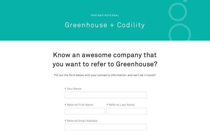 Referral | Codility | Greenhouse