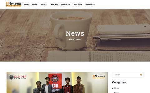 Screenshot of Press Page inurture.co.in - iNurture News | iNurture Education Solutions Pvt. Ltd. - captured Nov. 14, 2018
