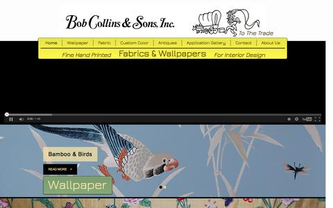 Screenshot of Home Page bobcollinsandsons.com - Bob Collins and sons - captured Feb. 7, 2016