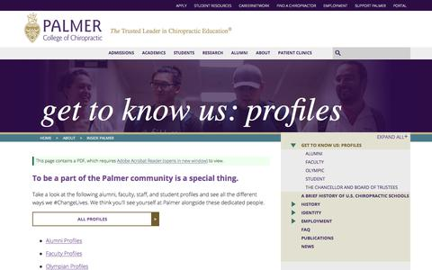 Get to Know Us: Profiles