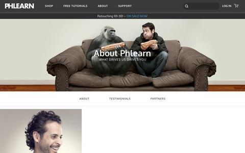 Screenshot of Team Page phlearn.com - Team - captured Nov. 22, 2016