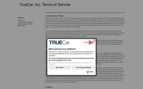 TrueCar - Terms of Service