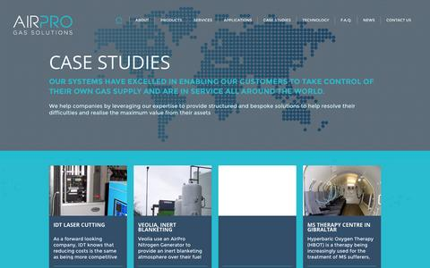 Screenshot of Case Studies Page airpro.ie - Air Pro - captured Sept. 30, 2014