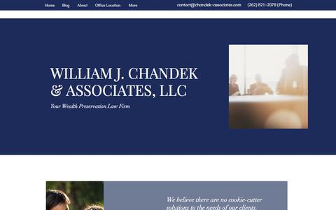 Screenshot of Home Page chandek-associates.com - Home | William J. Chandek & Associates, LLC - captured Oct. 21, 2017