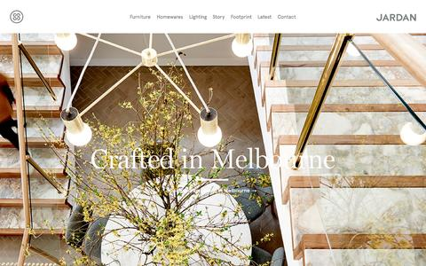 Screenshot of Home Page jardan.com.au - Jardan Furniture | Designed and made in Melbourne - captured Oct. 8, 2015