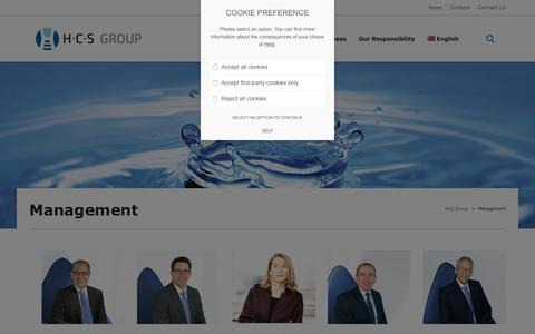 Screenshot of Team Page h-c-s-group.com - Management - HCS Group - captured July 14, 2018