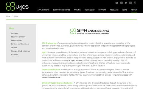 Screenshot of About Page ugcs.com - About SPH Engineering | UgCS - captured Oct. 1, 2018