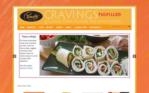 Screenshot of Home Page pamelasproducts.com - Pamela's Products - captured Sept. 19, 2014