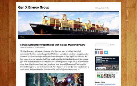 Screenshot of Home Page genxenergies.com - Gen X Energy GroupGen X Energy Group   A Energy Guide For You - captured July 24, 2017