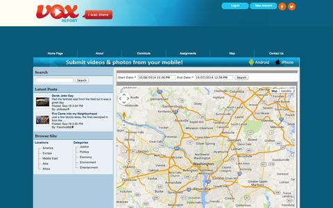 Screenshot of Maps & Directions Page voxreport.com - VOX - Report Map - captured Oct. 7, 2014