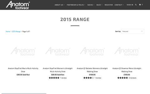 Screenshot of About Page anatomfootwear.co.uk - 2015 Range - captured Feb. 6, 2016