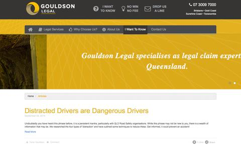 Screenshot of Blog gouldson.com.au - Gouldson Legal Lawyers Blog - captured Oct. 3, 2014