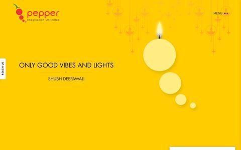 Screenshot of Home Page pepper-designs.com - Creative Ad Design Agency in Delhi, India - Pepper Designs - captured Nov. 4, 2018