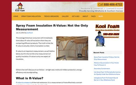 Screenshot of Blog koolfoamllc.com - Blog - Kool Foam LLC - captured Feb. 12, 2016