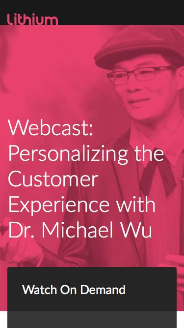 Personalizing the Customer Experience with Dr. Michael Wu
