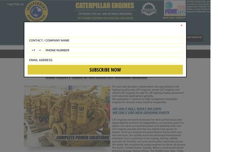Screenshot of About Page indrebuild.com - CAT Engines / Caterpillar Motors | Industrial Diesel Engines - captured Nov. 26, 2016