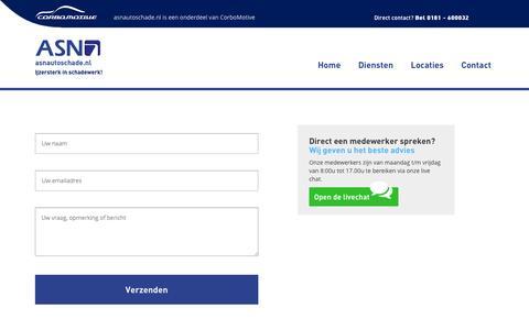 Screenshot of Contact Page ikhebautoschade.nl - Contact - captured Nov. 2, 2014