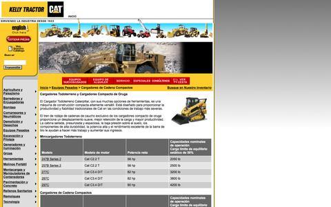 Screenshot of Landing Page kellytractor.com - Kelly Tractor Minicargadores Todoterreno - captured Aug. 12, 2016